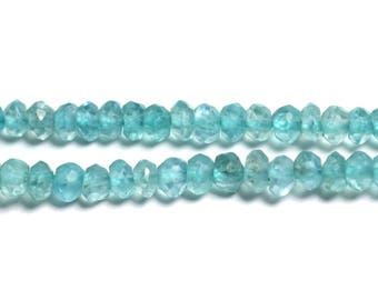 10pc - gemstone - Apatite faceted Rondelle 3x2mm - 4558550090232 beads