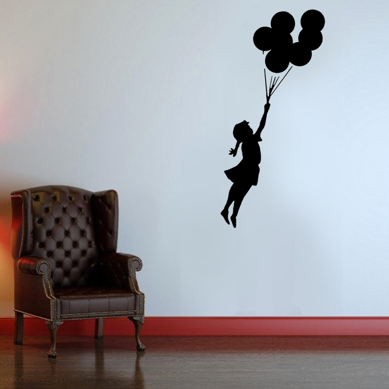 Banksy stencil flying balloon girl girl with balloons banksy description paint this banksy flying balloon girl stencil on any wall amipublicfo Image collections