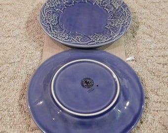 Vintage 1980\u0027s Bordallo Pinheiro Ceramic Blue Grape Vine Plates/William Sonoma-Set ... & 1980s plates   Etsy