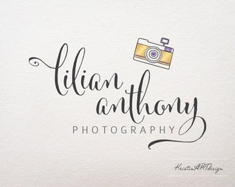 Camera Logo, Photography logo, Gold logo, Purple logo, Watermark 204