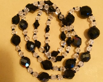 vintage necklace  from Czech crystal