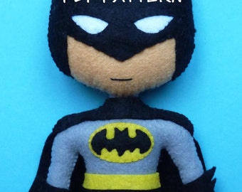 PDF pattern to make a felt Batman.