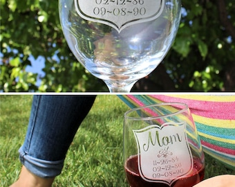 Mothers Day Gifts for Mom Wife Gift for Women Wine Glass