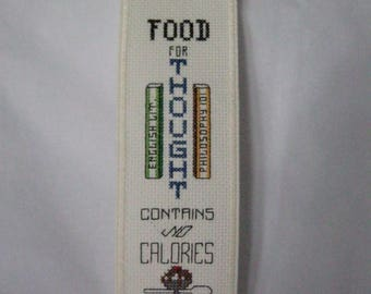 Hand Made Bookmark Food for Thought Contains no Calories with Scoop of Ice Cream