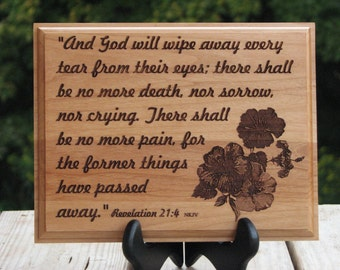 Laser Engraved Wood Plaque - Scripture Art - Christian Art - Engraved Scripture - Gift Idea