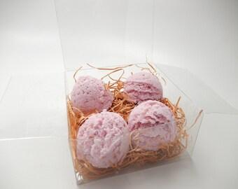 Lavender Chamomile Bath Truffles, Set of 4,  Bubble Scoops, Bath Bomb, Gift Set, Bath Fizzy, Bath Melt, Foaming Bath Truffle BBW dupe