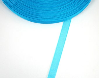BLUE Caribbean 5 X 10 mm organza Ribbon meters