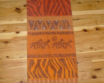 African Handprinted Ethnic Table Runner or Wall Hanging