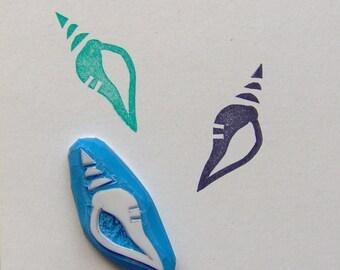 Sea shell stamp, seashell stamp, seashells stamp, sea shells, hand carved rubber stamp, hand carved eraser stamp, sea stamp, ocean stamp