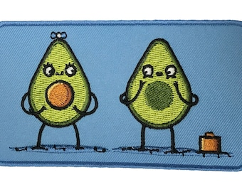 Randy Otter Avocado Baby Iron On Patch On Jacket Shirt HS P - RO - 0039