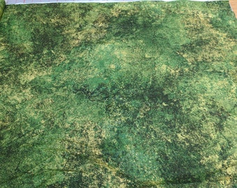 Stonehenge-Green Cotton Fabric (#3934M) by Sunshine Cottage for Northcott