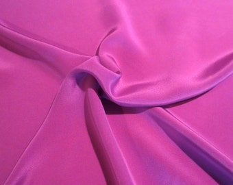 Plum Pure Silk Crepe de Chine Fabric--One Yard