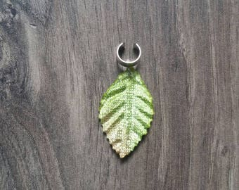 Dreadlock bead leaf woodland pixie