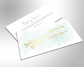 Gold Foil Business Cards, Simple