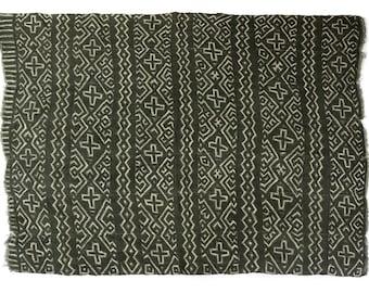 Antique handmade Bogolan strip-woven mud cloth from Mali, West Africa B188
