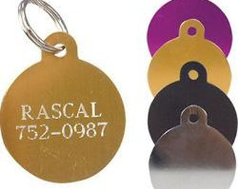 Small Circle Pet ID Tag with Split Ring