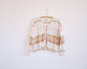 Vintage Cardigan // Ethnic. 70's, 80's 90's fashion. Bohemian.