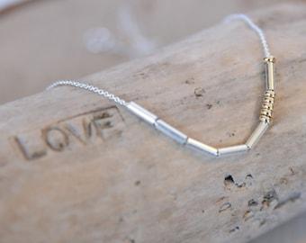 Sister Morse Code Necklace, Love Necklace, Morse Code Jewelry, Sister Jewelry, Sister Necklace, Gold Morse Code, Gold Dainty Necklace