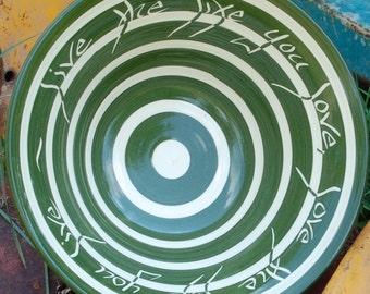 Custom Wedding Bowl, Stripe