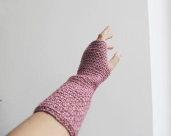Xriss Xross Ruby Stonewashed Crochet Wrist warmer