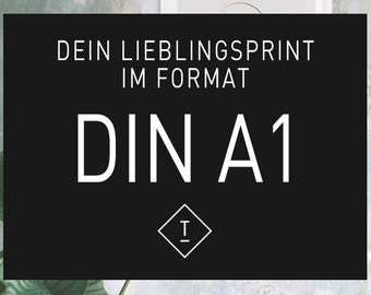 DIN A1 / Fine Art-Print, Wall-Art, Minimal Poster Art, Typography Art, Premium Poster, Kunstdruck Poster