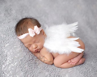 Newborn Angel Wings, white or pink