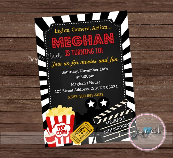 Movie party invitation movie night party invitation movie night movie party invitation movie night party invitation movie night chalk invitation movie night birthday invitation chalkboard digital file from filmwisefo Choice Image