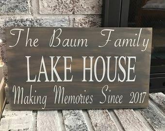 Custom Lake House Wood Sign