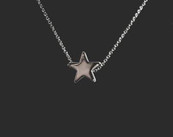 Star Charm Necklace, Dainty Star Necklace, Silver Star Necklace, Star Pendant, Minimalist Star Necklace, Star Jewelry, Tiny Star Pendant