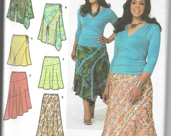 Simplicity | 4197 | Women's Bias Pull On Skirts with Length and Hemline Variations | Uncut and Factory Folded