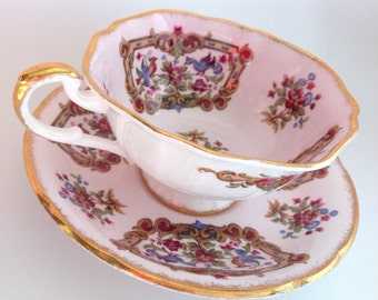 Paragon Antique Series Sheraton Pink Tea Cup and Saucer