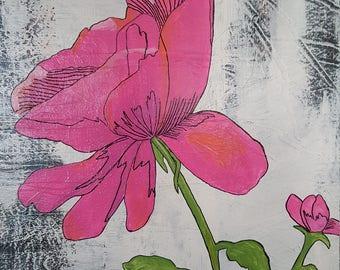 Pink rustic flower