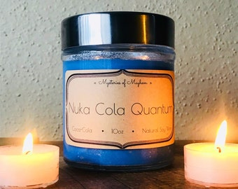 Nuka Cola Quantum - Soy Wax Candle - Glow in the Dark - Fallout 4 inspired - Coca-Cola Scented