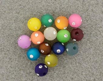 Matching 14 beads polaris round rhinestone 8 mm - Ref 3689 08501 (x 14 pcs) - while stock last!
