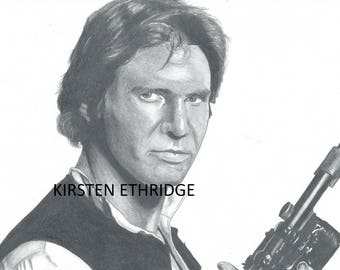"Original Drawing - Han Solo 7.25""x11"""