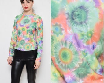 Vintage 90's Psychedelic Daisy Print Top