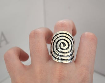 Sterling silver Ring Adela, silver 950, fine jewelry