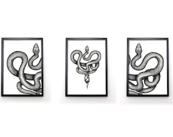 A Twisted Heart - Limited edition print of a snake - No.3