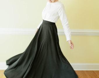 Long Skirt - long edwardian skirt Made to Measure Pioneer Skirt Mennonite all sizes available skirt Prairie skirt long ski