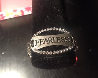Unique fearless pendant bracelet
