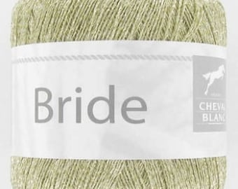 No. 127 gold white horse BRIDLE fancy yarn
