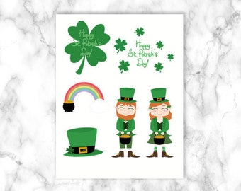 St. Patrick Clipart | St. Patrick's Day, Clipart, Rainbow Clipart, Shamrock Clipart, Leprechaun Clipart, Pot of Gold, Clipart, Coin Clipart