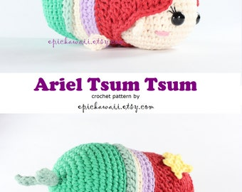 PATTERN: Ariel Tsum Tsum Crochet Amigurumi Doll