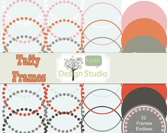 Nested Digital Labels (Taffy) Vintage Clip Art Cards, Tags, Customizable, Printable