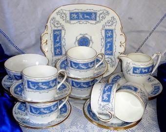 COALPORT REVELRY TEA Set Unused Pristine Condition