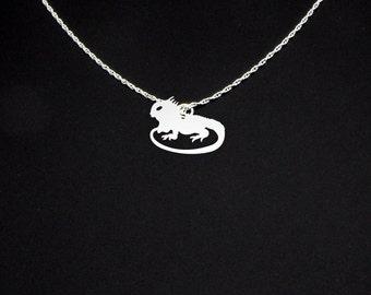 Iguana Necklace - Iguana Jewelry - Iguana Gift