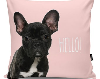 Decorative pillow Hello Frenchy