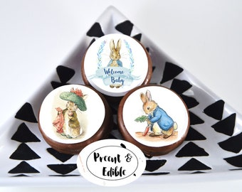 peter rabbit toppers,edible topper,oreo topper,peter rabbit baby shower,beatrix potter,cookie topper,Baby shower topper,Baby shower