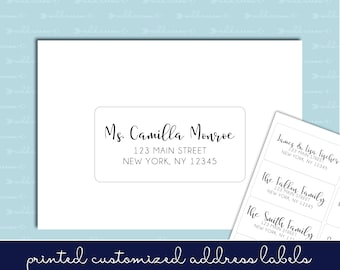 "Guest List Address Labels - 2""x4"" - Wedding Invitations - Individual and Different Names and Addresses on Each Label!"