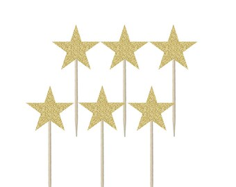 Star Shaped Cupcake Topper, Cake Topper, Cake Decoration